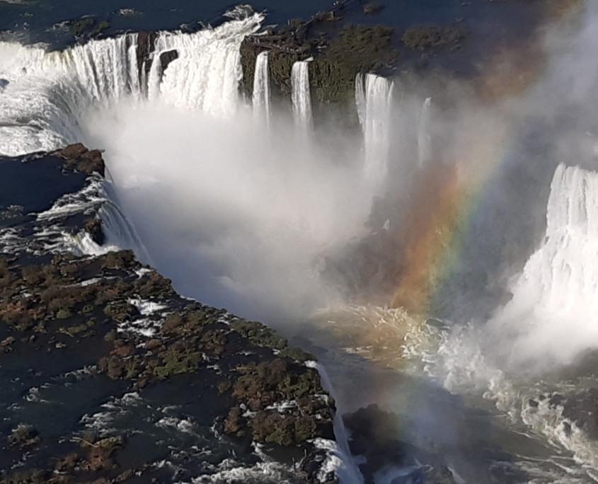Die Wasserfälle von oben. Magisch!
